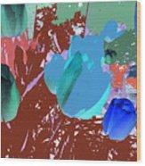 Tulipani Blu E Corallo Wood Print