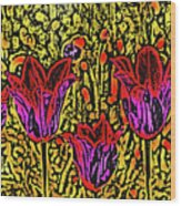Tulips Are Tulips Wood Print