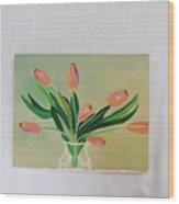 Tulips Dancing Wood Print