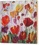 Tulips Flowers Garden Seria Wood Print