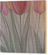 Tulips For Carol Wood Print