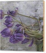 Tulips Frozen Wood Print