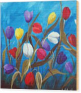 Tulips Galore II Wood Print