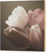 Tulips Glow Wood Print