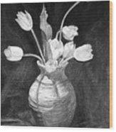 Tulips In A Vase Wood Print