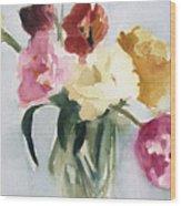 Tulips In My Studio Wood Print