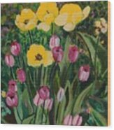Tulips In The Capitol 2 Wood Print