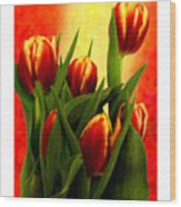 Tulips Jgibney Signature  5-2-2010 Greenville Sc The Museum Zazzle For Faa20c Wood Print