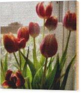 Tulips Wood Print by Karen Scovill