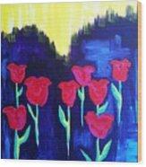 Tulips Of My Heart Wood Print