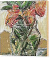 Tulips Wood Print by Russell Pierce