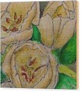 Tulips Trio Wood Print