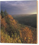 Tully River Valley Autumn Wood Print