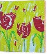 Tulpen 67 Wood Print
