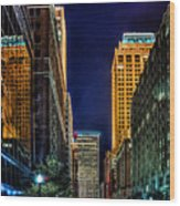 Tulsa Nightlife Wood Print