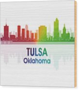 Tulsa Ok 1 Squared Wood Print