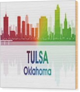 Tulsa Ok 1 Vertical Wood Print