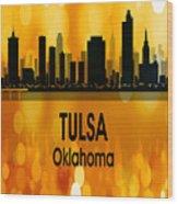 Tulsa Ok 3 Vertical Wood Print