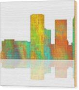 Tulsa Oklahoma Skyline-1 Wood Print