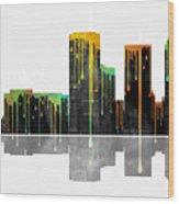 Tulsa Oklahoma Skyline Wood Print