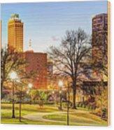 Tulsa Through The Trees Wood Print