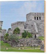 Tulum Mayan Ruins Wood Print