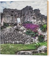 Tulum Temple Ruins No.2 Wood Print