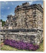 Tulum Temple Ruins Wood Print