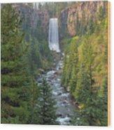Tumalo Falls In Bend Oregon Wood Print