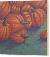Tumbled Pumpkins Wood Print