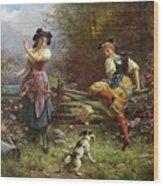 Tumbling Apples Hans Zatzka Wood Print