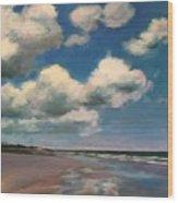 Tumbling Clouds Wood Print