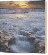 Tumbling Surf Wood Print