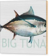 Tuna 001 Wood Print