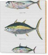 Tuna Fishes Wood Print