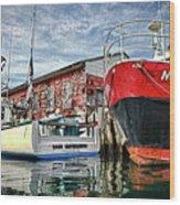 Tuna Fishing In Gloucester Wood Print