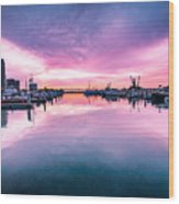 Tuna Harbor Sunrise Wood Print