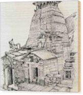 Tungnath Wood Print