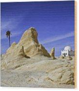 Tunisian Desertscape Wood Print