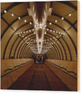 Tunnel Abstract Wood Print