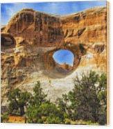 Tunnel Arch Wood Print