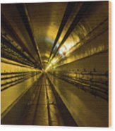 Tunnel In Schoenenbourg Fort, France Wood Print