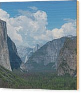 Tunnel View In Yosemite  Wood Print