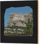 Tunnel View Mt Rushmore 2 A Wood Print