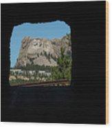 Tunnel View Mt Rushmore 2 B Wood Print