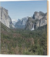 Tunnel View Of Yosemite During Spring Wood Print