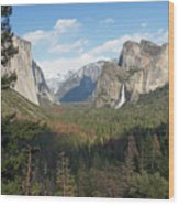 Tunnel View Shadow Wood Print