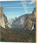 Tunnel View Yosemite Wood Print