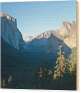Tunnel View Yosemite Valley California Wood Print