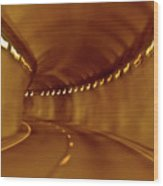 Tunnel Vision Daze  Wood Print